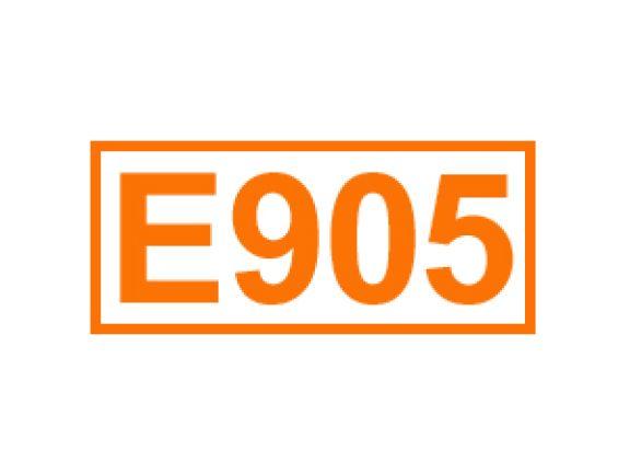 E 905 ein Trenn- und Überzugsmittel