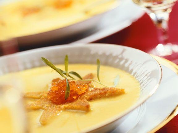 Edle Kartoffelsuppe mit Kaviar