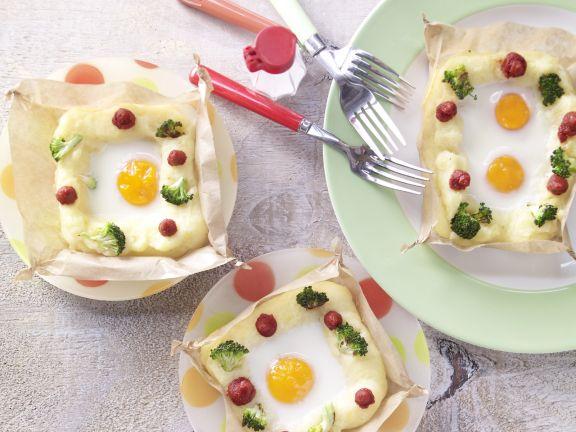 Ei im Kartoffelnest