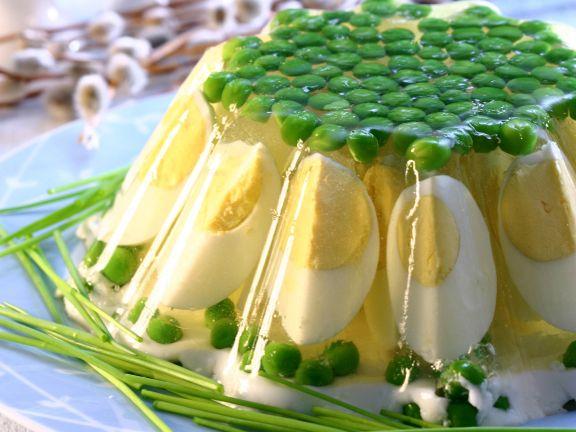 Eier-Erbsen-Sülze