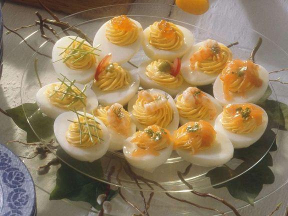 Eier gefüllt