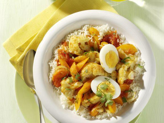 Eier-Gemüse-Curry