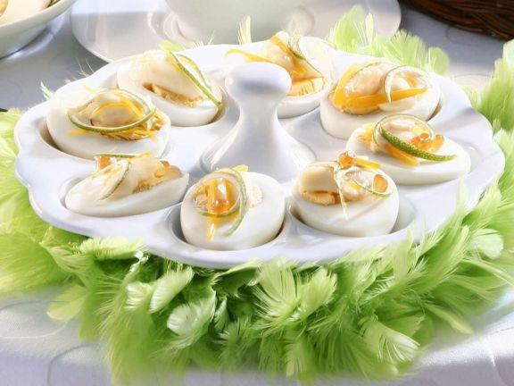 Eier mit Kaviar