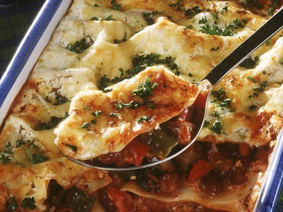 Einfache Gemüse-Lasagne