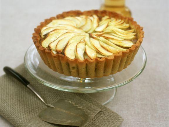 Einfacher Apfelkuchen mit Pudding