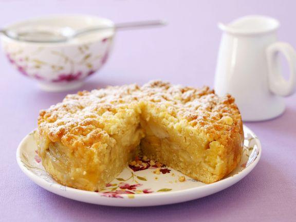 Apfelkuchen mit streuseln in springform
