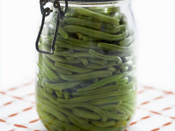 Eingelegte grüne Bohnen
