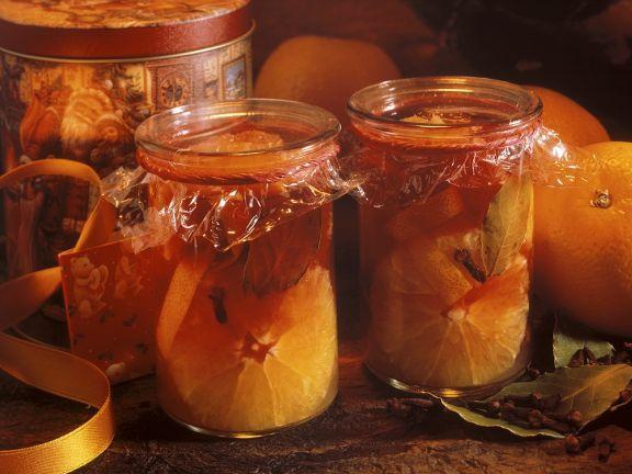 Eingelegte Orangen