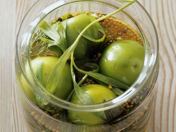 Eingemachte grüne Tomaten