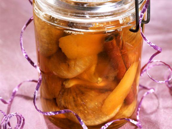 Eingemachte Rum-Früchte