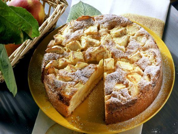 Eingesunkener Apfelrührkuchen