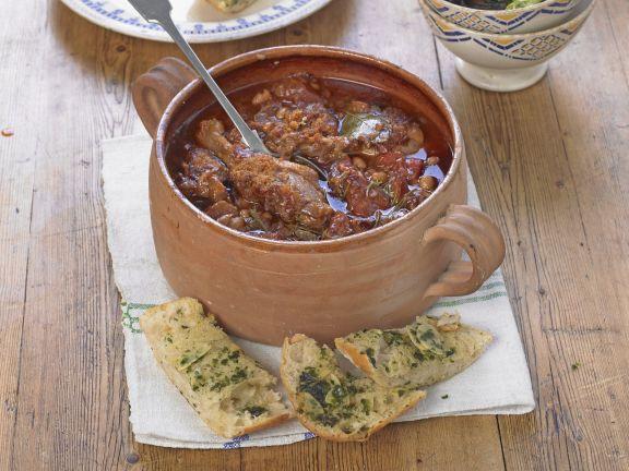 Eintopf mit Schweinefleisch und Ente (Cassoulet)