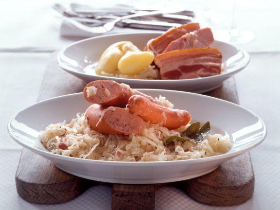 Elsasser Sauerkrautplatte Choucroute Garnie