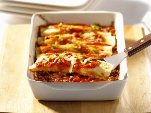 Enchiladas mit Fleischfüllung