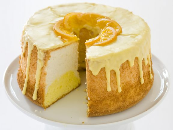 Engelskuchen mit Orange (Angel Food Cake)