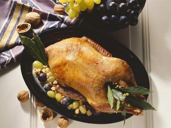 Entenbraten mit Weintrauben