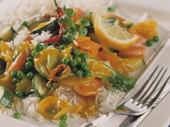 Erbsen-Curry mit Koriander