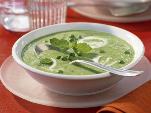Erbsen-Minz-Cremesuppe