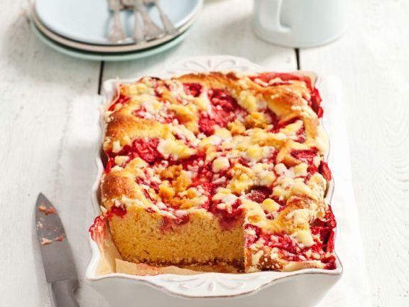 Erdbeer-Hefekuchen