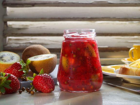 Erdbeer-Kiwikonfitüre