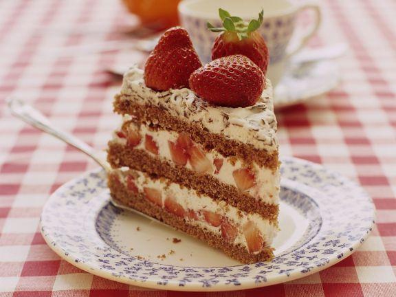 Erdbeer-Mascarponecremetorte