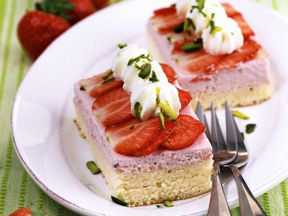 Erdbeer-Sahneschnitten