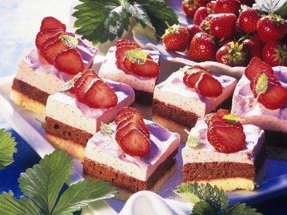 Erdbeer-Schokocremeschnitten