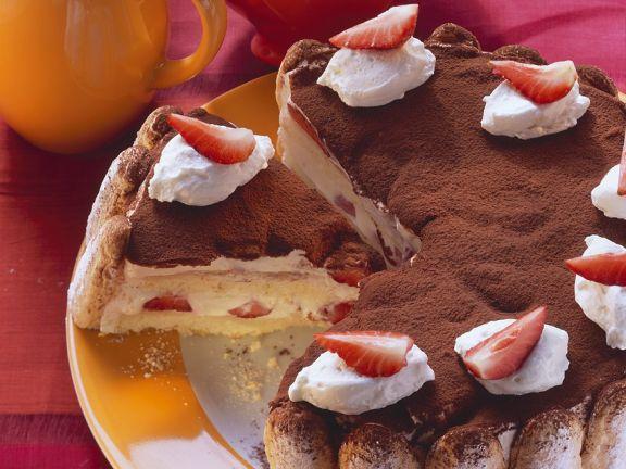 Erdbeer-Tiramisutorte