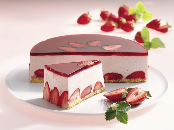Erdbeercreme-Torte