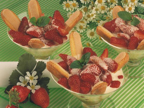 Erdbeeren mit Vanille-Zabaione