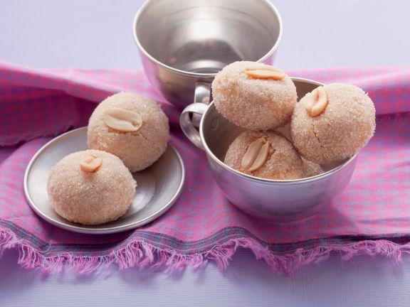 Erdnuss-Cookies mit Vanille