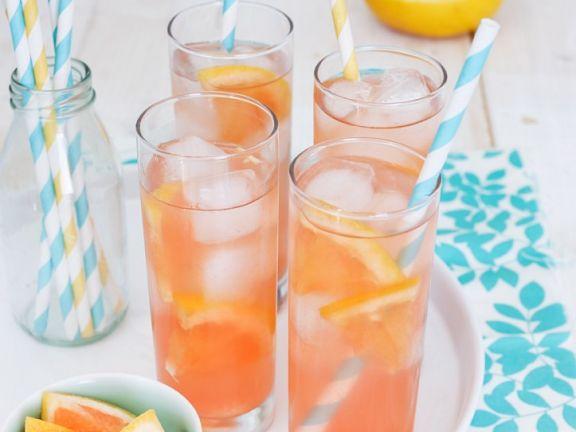 Erfrischender Grapefruitdrink