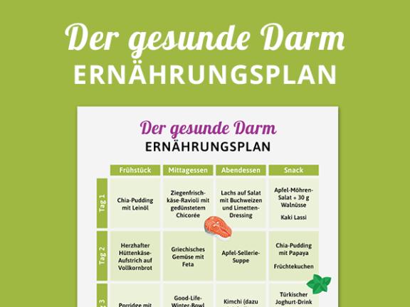Ernährungsplan gesunder Darm