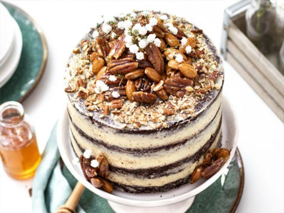 Espresso-Honig Naked Cake