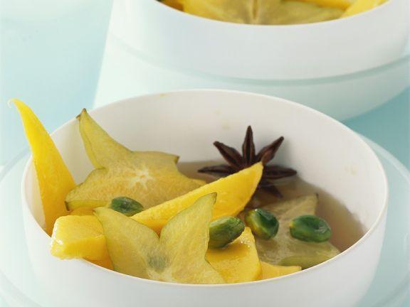 Exotische Sirup-Früchte