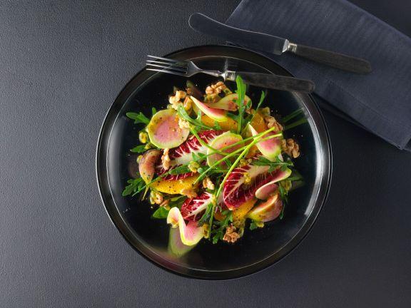 Exotischer Wintersalat mit Wassermelonen-Radieschen