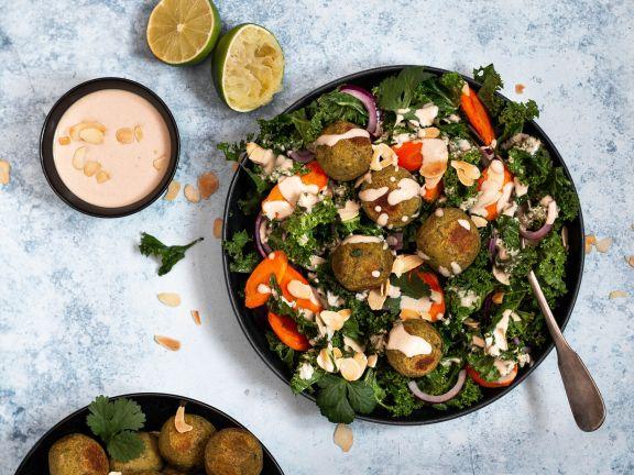 Falafel-Grünkohl-Salat