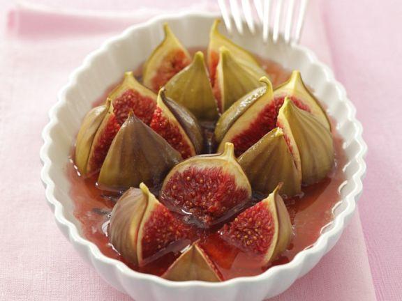 Feigen in Rosé-Honig-Sauce