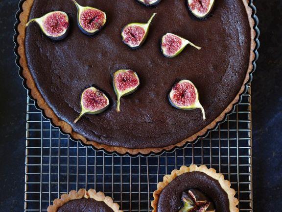 Feigen-Torteletts mit Schokolade und Feigen-Schoko-Tarte