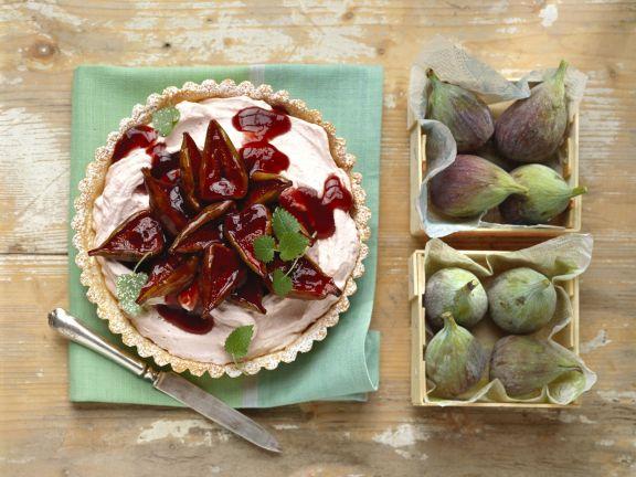 Feigenkuchen mit Quark-Mascarpone-Creme