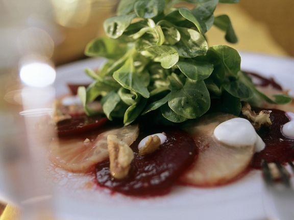 Feldsalat mit Gemüse