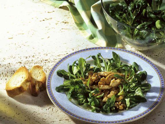 Feldsalat mit Pute