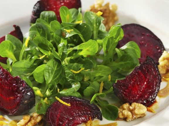 Feldsalat mit Roter Bete