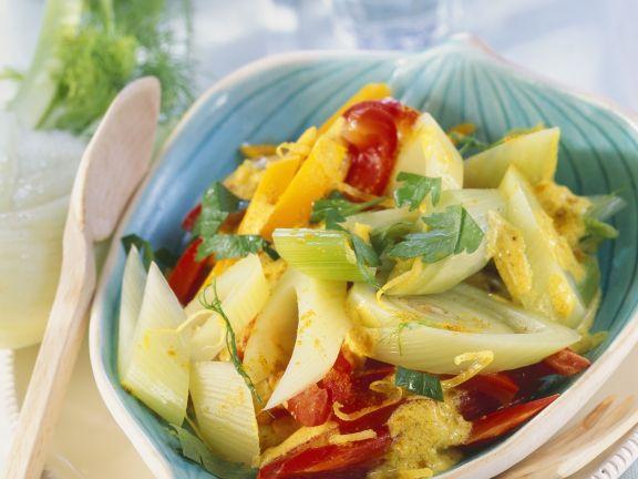 Fenchel-Curry mit Kürbis und Paprika