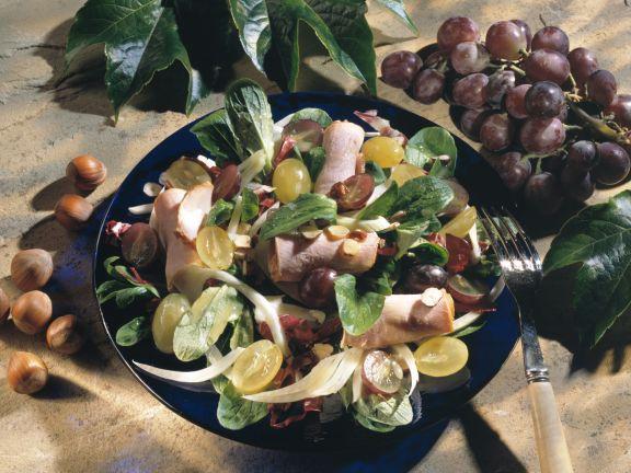 Fenchel-Salat mit Trauben