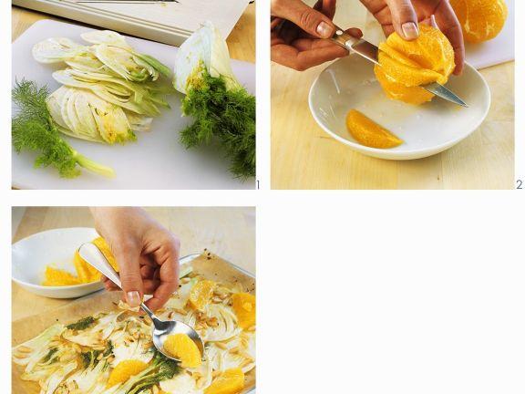 Fenchelgemüse mit Orange aus dem Ofen