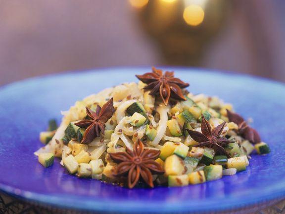 Fenchelgemüse mit Zucchini
