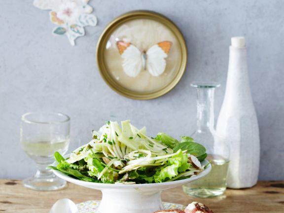 Fenchelsalat mit Champignons und gebackenem Ziegenkäse