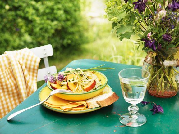 Fenchelsalat mit Pfirsich