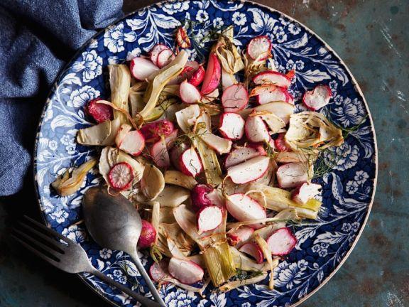 Fenchelsalat mit Radieschen